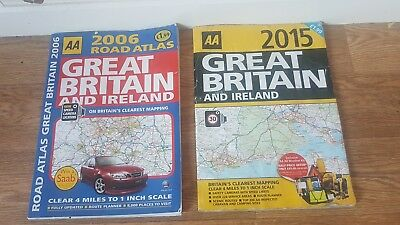 AA 2006 And 2015 Road Atlas Of Great Britain And Ireland