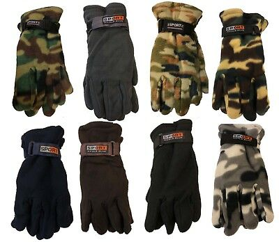Outdoor Sports Winter Fleece Thermal Insulation Gloves/ Camouflage Black