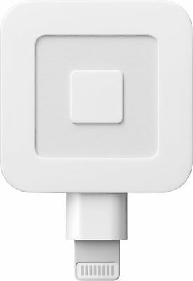 Square - Magstripe Reader with Lightning Connector - Glossy White