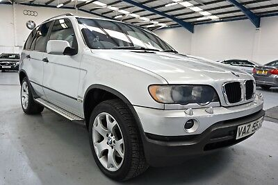 2002 Bmw X5 3.0D Auto Finished In Silver With Black Leather Good Service History