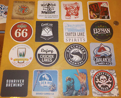 16 diff Beer Brewery Coasters - Micro Craft Oregon
