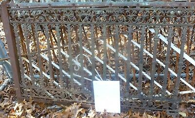 175' Antique CAST IRON FENCE Architectural Salvage Gate Wrought Ornate Victorian