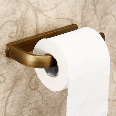 Brass Toilet Roll Holder Wall Mounted Antique Style Solid Brass Lavatory Loo WC
