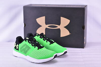 b9fc3eac123d Youth Boy s Under Armour BGS Micro G Fuel Running Shoes Lime Green