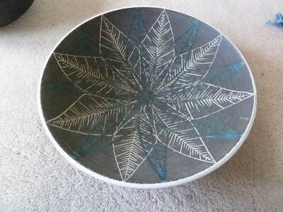 """Large Mid Century Britsh Studio Pottery Bowl - Signed & dated """" MR 1961 """""""