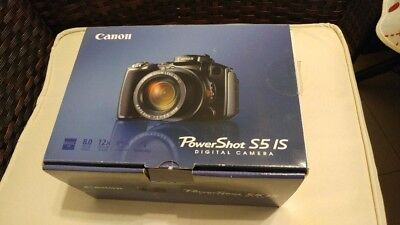 CANON POWERSHOT S5 IS CAMERA MANUALS, CDs and BOX
