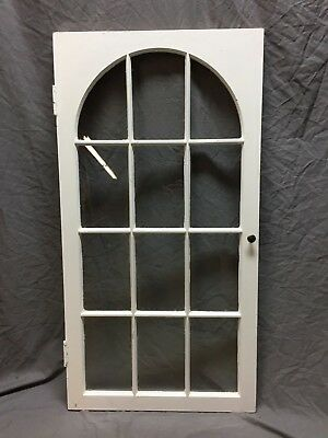 Antique Window Cabinet Arched Panes 12 Lite Casement 24X46 Vintage 343-18C