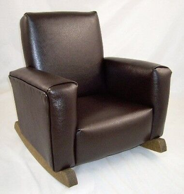 New Children's Upholstered Rocking Chair Chocolate Lexus Toddle Rock for Kid