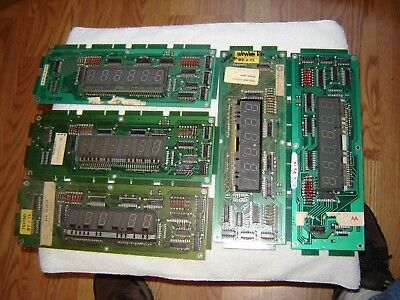 Lot of 5 (five) Williams master displays  Lot A