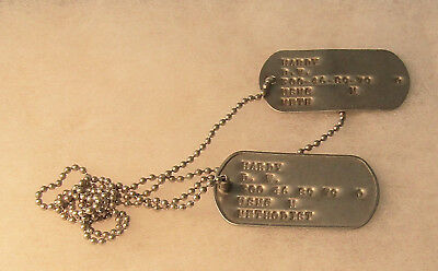 Pair Usmc Dog Tags And Chain