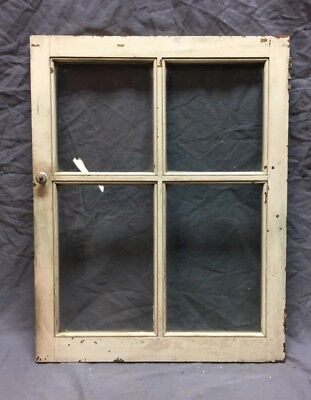 Antique 4 Lite Casement Window Cabinet Door Old Shabby Vtg Chic 21X27 344-18C