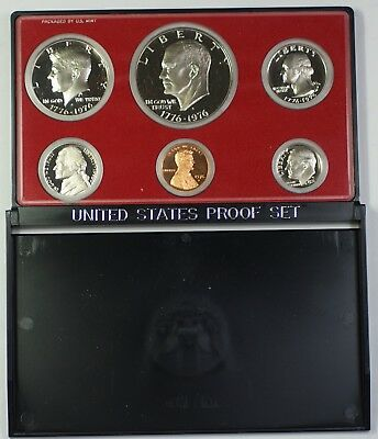1976 US Mint Clad Bicentennial Proof Set Gem Coins as Issued