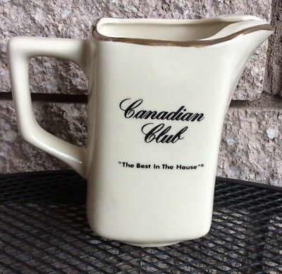 "Canadian Club Ceramic Water Pitcher "" The Best In The House """
