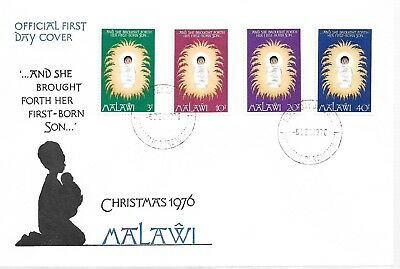 Malawi 1976 Christmas First Day Cover     My Ref 1451