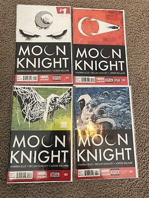 Moon Knight Issues 1, 2, 3, And 4 First Print.  Warren Ellis