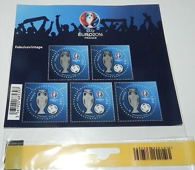 France Poste Collection Poste Bloc X5 Timbres Neufs 1€ Uefa Euro 2016 Football