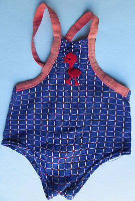 Vintage Child's Swimsuit - Pre-Wwii - Felt Duck Applique