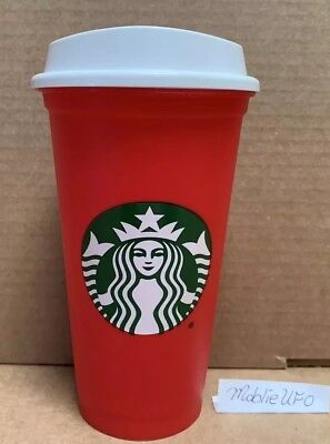 Brand New Starbucks Christmas Holiday Red Reusable 16oz Cold Hot Coffee Cup 2018