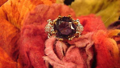 ~Beautiful Amethyst Frog Ring & Spell Scroll To Dispel Negative Energy~Balance~