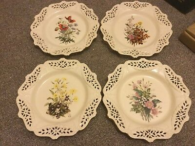 4 Collectable Royal Creamware Plates From 'The Floral Gift' Limited editions