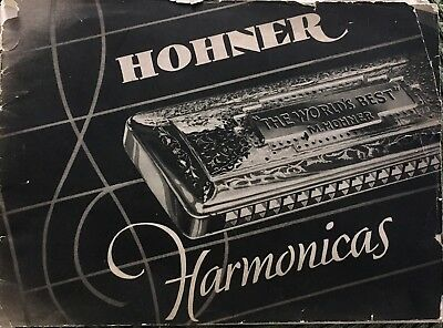 Antique MUSICAL INSTRUMENT CATALOG  1936 HOHNER HARMONICAS 23 Pages