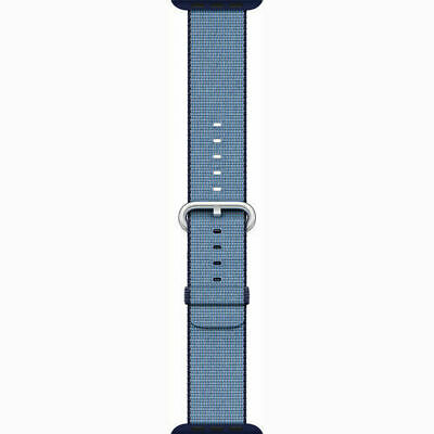 Apple Watch Woven Nylon Band (38mm, Navy/Tahoe Blue)