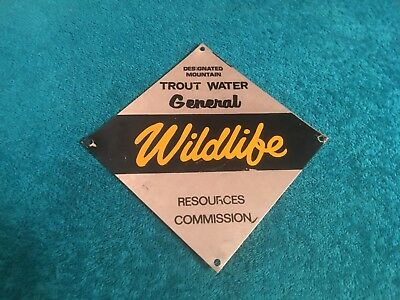 RARE North Carolina NC US WILDLIFE MOUNTAIN TROUT WATER FORESTRY Metal Sign