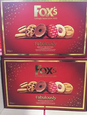 2 Box S Fox S Fabulously Biscuits Selection 550g Box Christmas Gift Familytreat