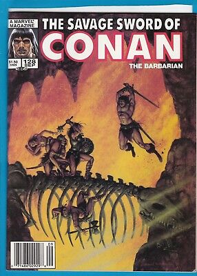 The Savage Sword Of Conan #128_September 1986_Very Fine_Marvel Sword & Sorcery!