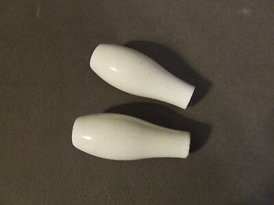 Lot Of 2 Porcelain Bathroom Lever Handles Knobs Large Chain Pull