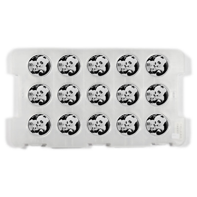 Lot of 15 - 2019 10 Yuan Silver Chinese Panda .999 30g BU In Cap Full Sheet