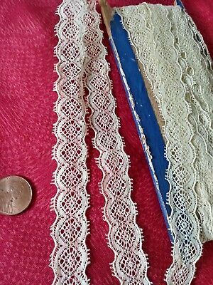 French Antique Lace Valencienne Val Trim  6 yards insertion
