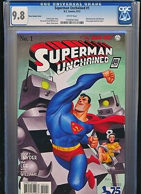 Superman Unchained 1 CGC 9.8 Bruce Timm Variant 1:100
