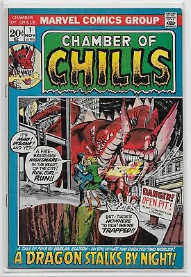 Chamber Of Chills #1 Vf- Marvel Comics 1972 Harlan Ellison Story Adaptation