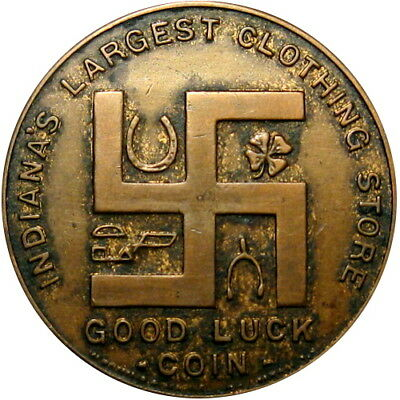 Fort Wayne Indiana Good Luck Swastika Token Patterson-Fletcher Good For $1