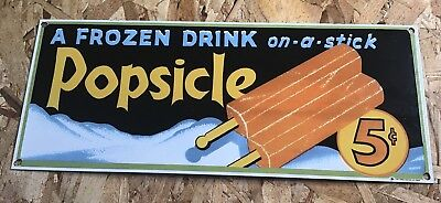 Vintage Good Humor Ice Cream Porcelain Metal Sign 15.5 X 6 Candy Store Gas Oil