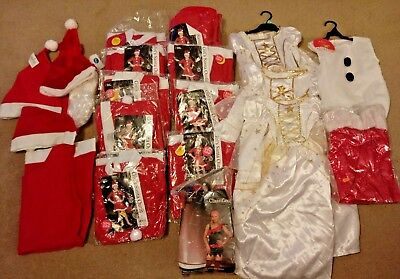 Joblot Fancy Dress Costumes Chrismas wholesale Angels Santas Hats Childrens