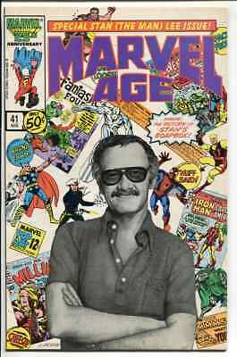 Marvel Age Issue # 41 Iconic Stan Lee Cover comic 1986 Return of Stans Soapbox