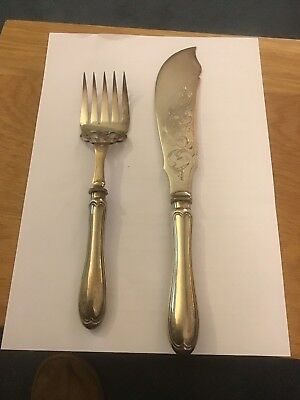 Silver Cake Knife And Fork