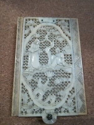 Superb Chinese 19th Cent Carved Aide Memoire/notepad Bovine Species Circa 1880s