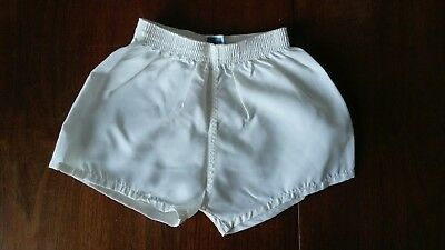 Nylon PE Shorts Unlined Vintage White made in Britain
