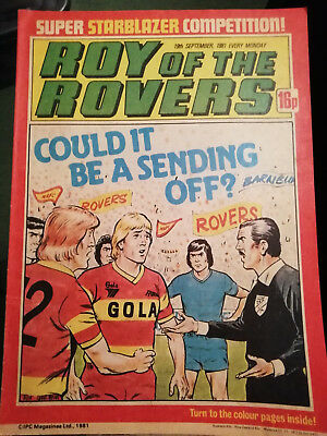 Roy Of The Rovers Comic 19Th September 1981 Terry Curran Of Sheffield Wednesday