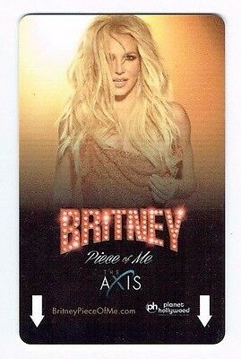 BRITNEY SPEARS PLANET HOLLYWOOD Las Vegas Room KEY Casino Hotel -Serial End 67G