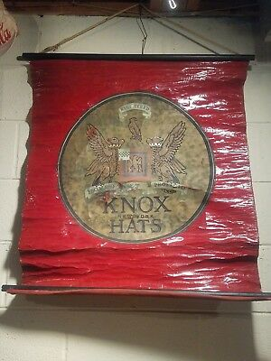 Vintage Advertising Sign ~ Knox Hats New York ~ Canvas