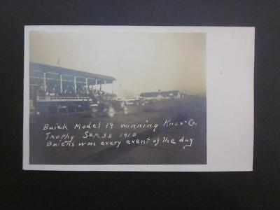 RPPC 1910 Real Postcard of Early Auto Car Race at Fairgrounds, Knox County
