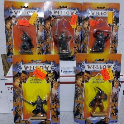 "Lot of (5) Vintage 1988 Tonka Willow ""The Magic Lies Within"" Figures MOC"