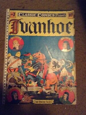 Ivanhoe Classic Illustrated Comics #2 Comic Book 1St Edition 1941 Golden Age