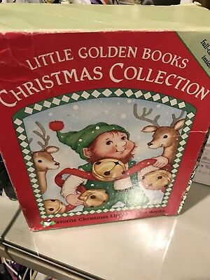 Christmas Collection of Little Golden Books ~ 14 Booked Boxed Set Rare