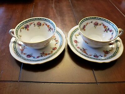 Bavaria Schumann Germany Tea Cups And Saucers