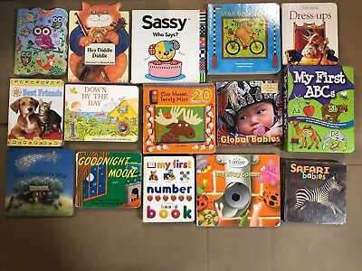 Lot of 22 Board Toddler Hardcover Picture DayCare Kid Child Books - UNSORTED H67